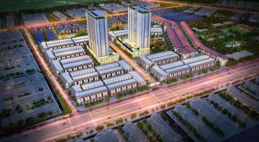 Cảnh quan ban đêm của dự án Gold City