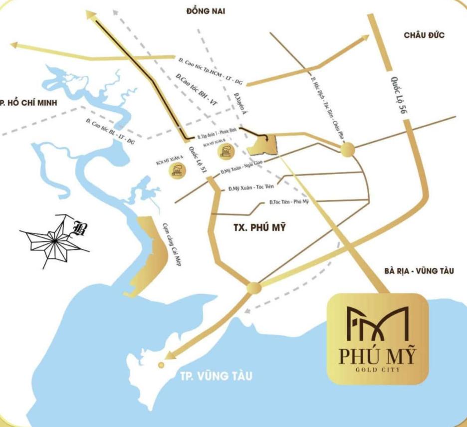 Vị trí chiến lược của dự án Phú Mỹ Goal City
