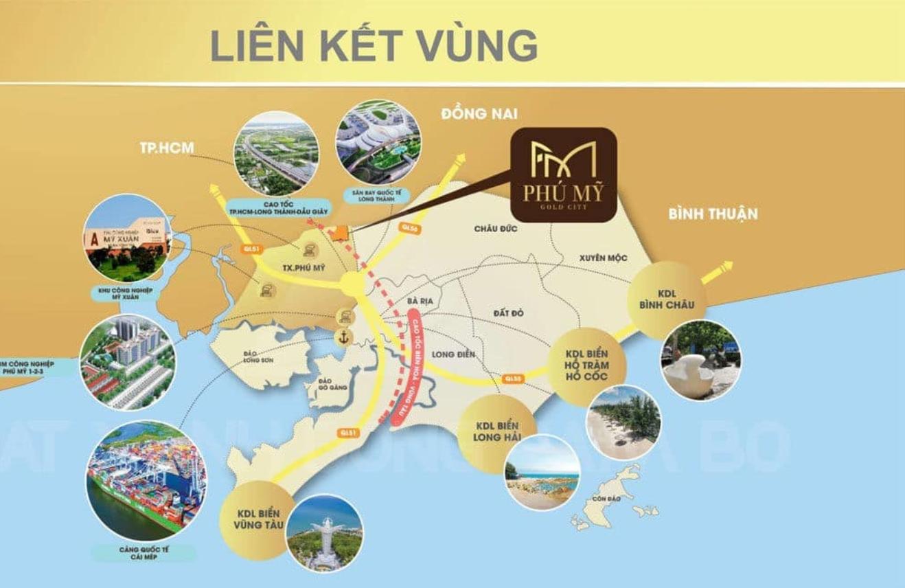 Kết nối vùng khu vực của dự án Phú Mỹ Goal City